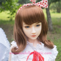 145cm cute lovely girl realistic sex dolls real silicone sex doll